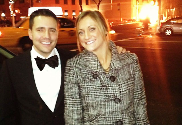 Jim Christiana with his wife in NyCity as posted to his Twitter feed.