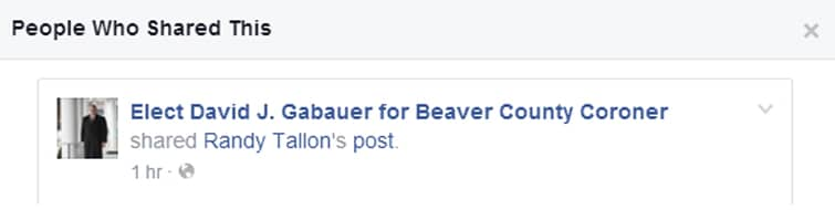 Tallon's rant was shared on Gabauer's official campaign page