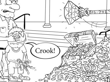 Editorial Cartoon:  The Treasurer's New Clothes